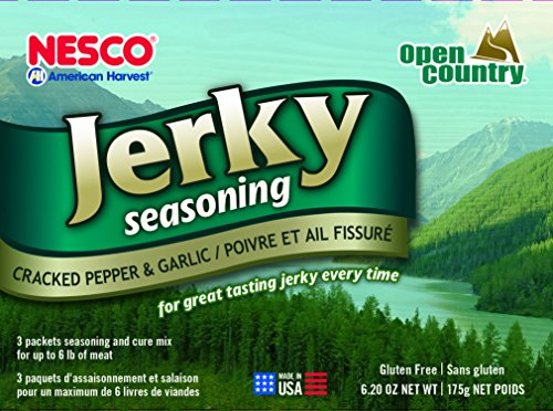 Nesco BJG-6 Jerky Spice Works, 6-Pack, Cracked Pepper & Garlic Flavor