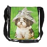 A Puppy In A Hat Unisex Polyester Fiber Messenger Bag Cross-Body Bag Daypack Bag