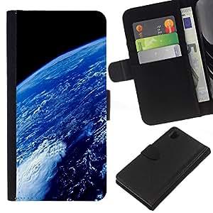// PHONE CASE GIFT // Moda Estuche Funda de Cuero Billetera Tarjeta de crédito dinero bolsa Cubierta de proteccion Caso Sony Xperia Z1 L39 / Space Planet Galaxy Stars 69 /