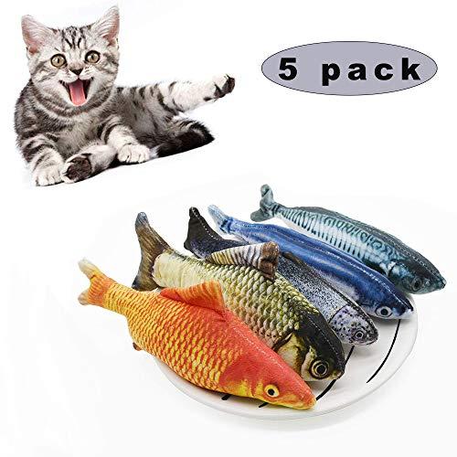 Sunshine smile katzenspielzeug Fisch,Catnip Spielzeug,katzenminze Fisch,Katze Interaktive Spielzeug,20CM Simulation Fisch,Kissen Kauen Spielzeug für Katze