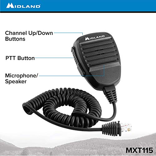 MXT115, 15 Watt GMRS MicroMobile Two-Way Radio - 8 Repeater