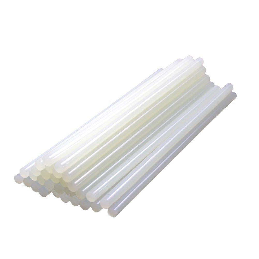 BleuMoo 15Pcs Hot Melt Glue Sticks PDR Professional Adhesive Sticks for Paintless Dent Repair Tools Dent Removal Tool Kit (White)