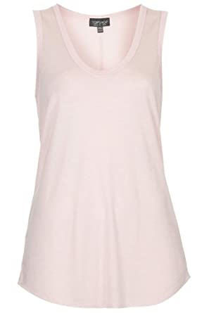 20968fff95 Topshop U Neck Loose Fit Tank Vest Top Tee: Amazon.co.uk: Clothing