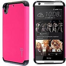 Desire 626 / 626s Case, CoverON® [Slim Guard Series] Slim Dual Layer Armor Hard Cover Thin TPU Phone Case For HTC Desire 626 / 626s - Hot Pink / Black
