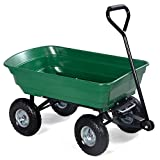 Item Ways 650LB Garden Dump Cart Dumper Wagon Carrier Wheel Barrow Air Tires Heavy Duty