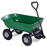 NUMBERNINE,650LB Garden Dump Cart Dumper Wagon Carrier Wheel Barrow Air Tires Heavy Duty,Garden Cart