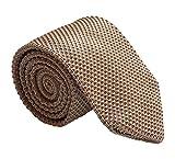 Men's Handmade Ties Fashion Dark Champagne Smart-Casual Wear Dress Self Neckties