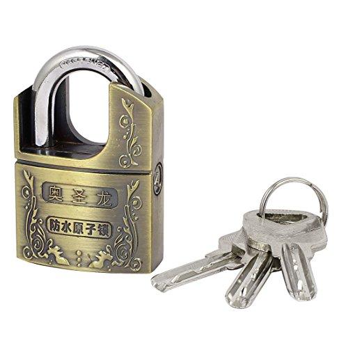 uxcell Furniture Cupboard Door 61mmx40mmx18mm Safety Locker Alloy Padlock w Keys by uxcell