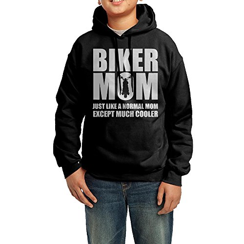 TuTuSwear Hoodie For Boys And Girls Youth Sweatshirt Biker Mom Black (Biker Chick Costumes)