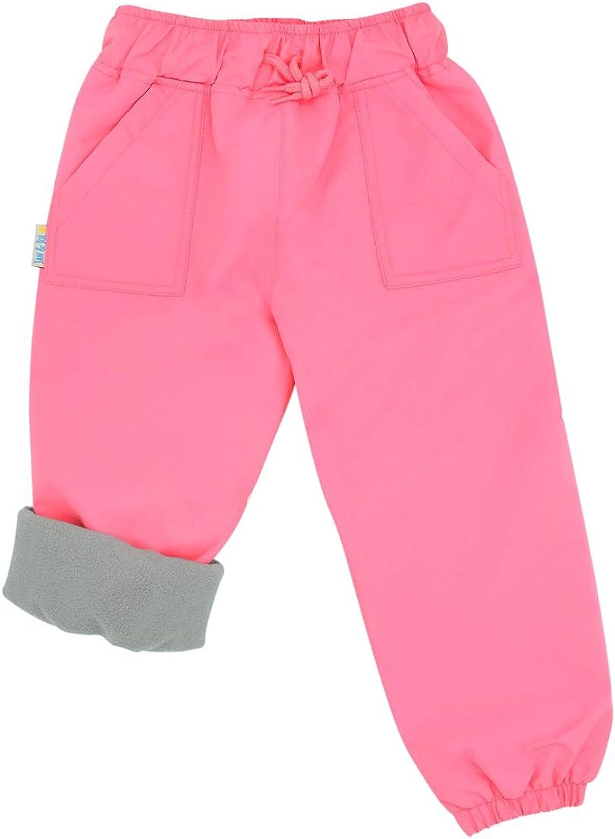 Jan /& Jul Kids Rain or Snow Pants Water-Proof Cozy-Dry Fleece-Lined for Girls Boys Toddlers
