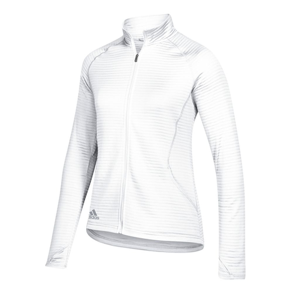 adidas Golf Women's Essential Full Zip Textured Jacket, White, XX-Large by adidas