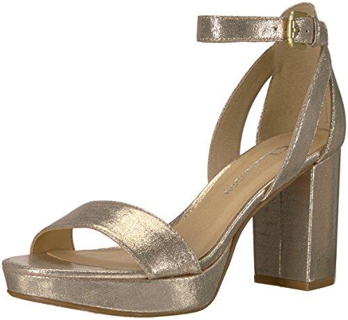 y Women's Go on Heeled Sandal, Light Gold, 9.5 M US (Platform Light)