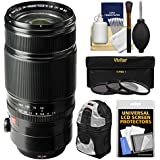 Fujifilm 50-140mm f/2.8 R LM OIS WR Zoom Lens with Backpack + 3 UV/CPL/ND8 Filters Kit for X-A2, X-E2, X-E2s, X-M1, X-T1, X-T10, X-Pro2 Cameras