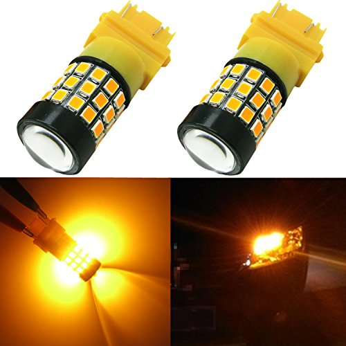 Alla Lighting 39-SMD 3157 3156 T25 Amber Yellow High Power 2835 Chipsets Xtremely Super Bright LED Bulbs for Replacing Turn signal Blinker Light Lamps Amber Led Lamp