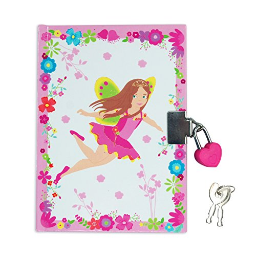 My Fairytale Fairy Floral 4 x 6 Inch Lined Lock and Key Journal Diary