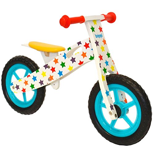 Boppi Kids Wooden Balance Bike – 3, 4 and 5 Years – Stars