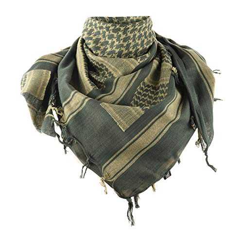 M-Tac Shemagh Tactical Desert Neck Scarf Men Military Army Cotton Wrap (Olive - Khaki)