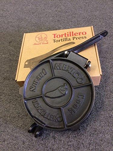 Heavy-Gauge Manual Reastaurant Cast Iron Flour Corn Tortilla Press Maker by Smart Cook