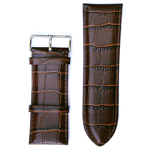 Croco Embossed Strap Watch (Leather Big and Tall Croco Embossed Brown 30 Millimeters Watch Strap)
