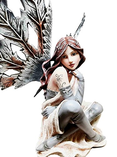 LARGE BEAUTIFUL WINTER FROST FLAKES FAIRY SCULPTURE (Frost Fairy Wings)