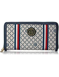 Wallet, Large Zip Wallets for Women, Diamond Jacquard Wallet