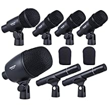 Andoer TAKSTAR DMS-7AS Professional Wired Microphone Mic Kit for Drum Set Musical Instruments with Standard Mounting Thread Carrying Case