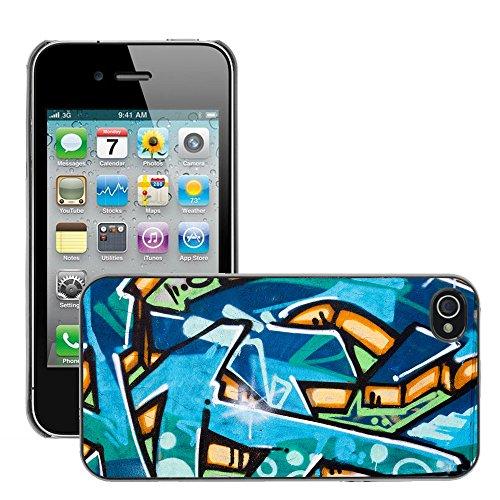 Premio Sottile Slim Cassa Custodia Case Cover Shell // V00002260 Graffiti wall // Apple iPhone 4 4S 4G