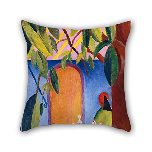 Beautifulseason Oil Painting Macke, August - Türkisches Café Cushion Covers 16 X 16 Inches / 40 By 40 Cm For Lounge,bench,couples,indoor,kids Girls,outdoor With 2 Sides