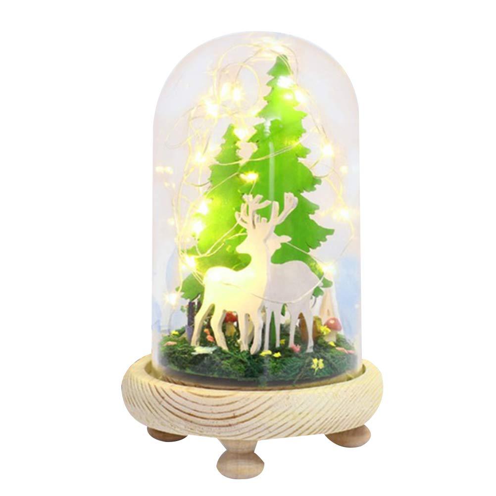 STOBOK Cáscara de Cristal de la casa de Bricolaje de Cristal Kit Miniatura Regalo de cumpleaños de Navidad en Miniatura