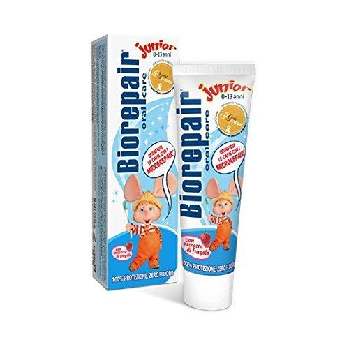 12pcs non flouride biorepair juniour kids microrepair toothpaste 50ml protect enamel & REPAIR from acid erosion and plaque files cracks / holes safe 0 -13ys by Biorepair