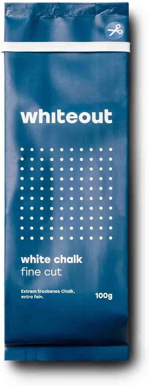 Gr/ö/ße 100g Whiteout White Chalk Crushed 100g Wei/ß Farbe Wei/ß Kletterzubeh/ör