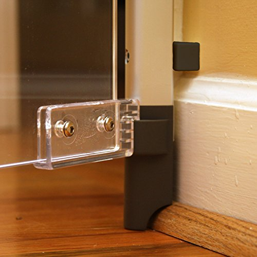 QDOS Crystal Baby Safety GATE - Meets Tougher European Standards - Modern Design and Unparalleled Safety - Beauty & Safety Together at Last - FastMount Rails for Simple Installation | Hardware Mount by Qdos Safety (Image #1)