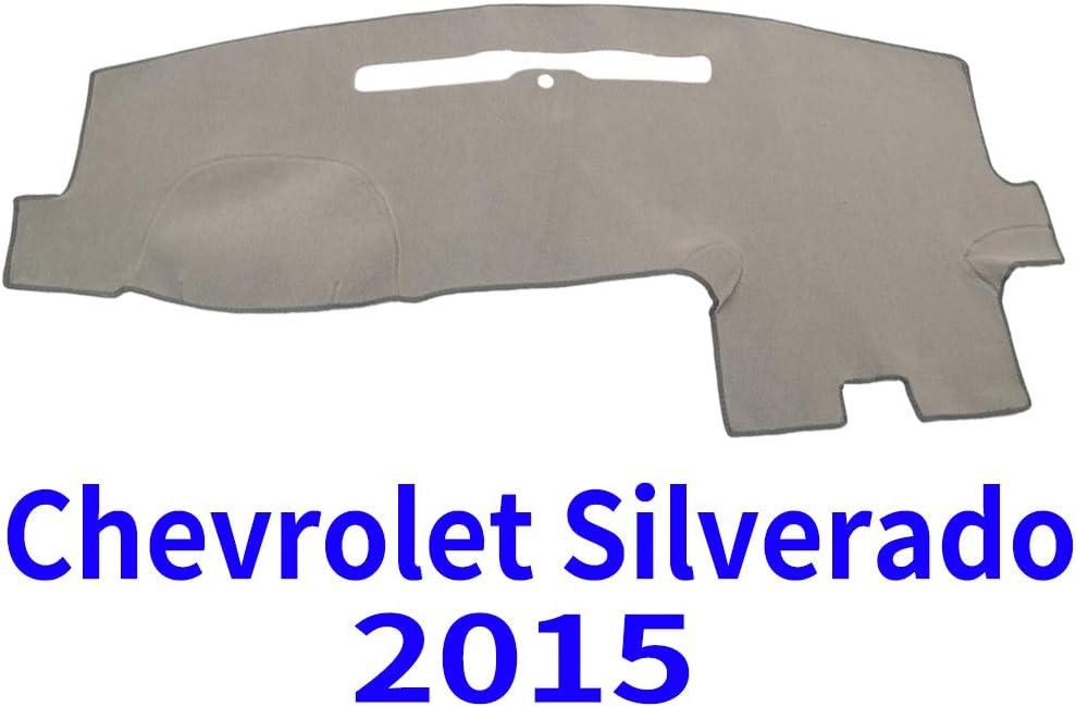 JIAKANUO Auto Car Dashboard Carpet Dash Board Cover Mat Fit for Chevy Chevrolet Silverado 2015 (Gray)(MR-016)