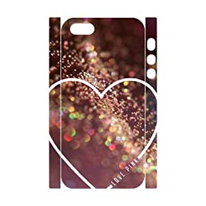 Love Pink Unique Design 3D Cover Case for Iphone 5,5S,custom cover case ygtg569665