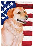 Cheap Caroline's Treasures BB9714GF Labrador Retriever Patriotic Decorative Outdoor Flag, Garden Size, Multicolor