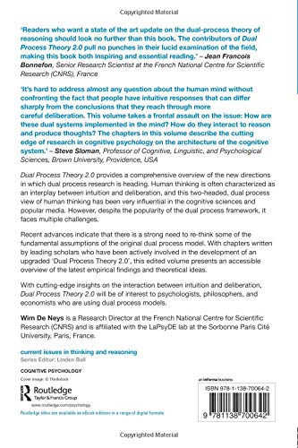 Dual Process Theory 2 0 (Current Issues in Thinking and Reasoning
