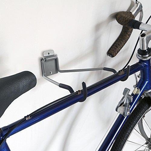 Stalwart 75-ST6016 Bike Rack Wall Hook, Wall Mount Flip-Up Bike Storage, Bicycle Holder/Hanger with EVA Foam - Bike Accessories for Garage or House by Stalwart (Image #2)