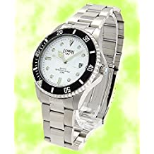 White Dial Water Resist Mens with Date 100% Taste Stainless Steel Watch