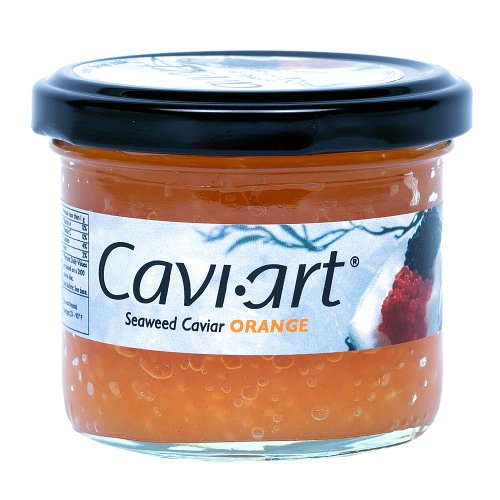 Caviart Award-winning VEGAN Seaweed Caviar 3.5 oz (ORANGE)