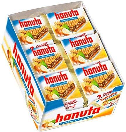Ferrero Hanuta Wafers with Hazelnut Cream, 18x 2pcs (36pcs) - Sold by CANDYWORLD.USA