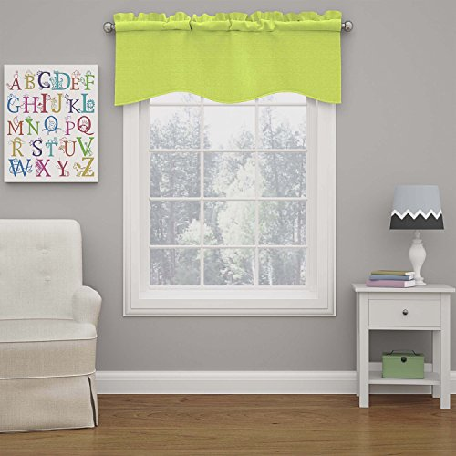(Eclipse 15453042X018LIM Kendall 42-Inch by 18-Inch Blackout Wave Window Valance, Lime)