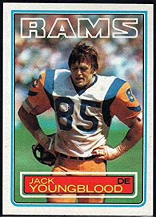 Amazon.com  Football NFL 1983 Topps  96 Jack Youngblood LA Rams ... e1fcb7bab