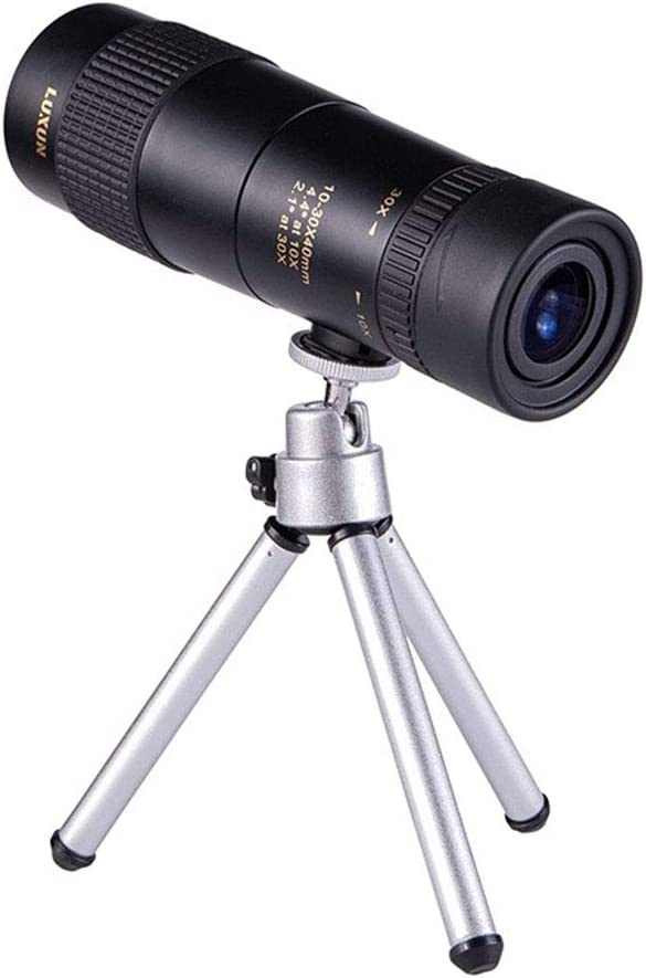 10-30x40 Zoom Monocular Telescope for Adults HD Professional with BAK4 Prism for Bird Watching Travel Stargazing Hunting Concerts