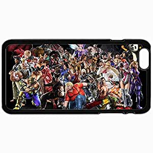 Fashion Unique Design Protective Cellphone Back Cover Case For iPhone 6 Case Cats Tekken Tag Tournament Roster Black