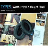 coussinets d'écouteurs de rechange pour casque Sennheiser HD202, HD212 Pro, etc (emballé 1 paire (2 pièces)) de type 5