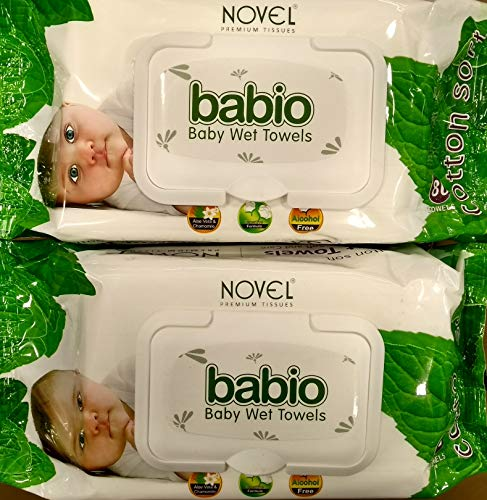 NOVEL Baby Wet Wipes  White, 80s Pack   Combo of 2