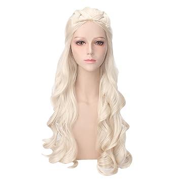 Amazon daenerys targaryen cosplay wig for game of thrones daenerys targaryen cosplay wig for game of thrones season 7 khaleesi costume hair wig solutioingenieria Choice Image