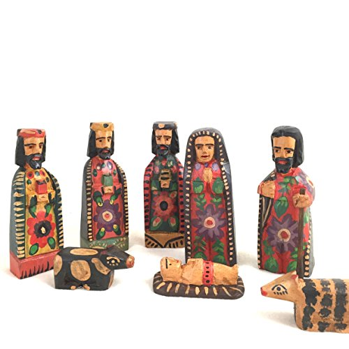 Altiplano Hand Carved Nativity Scene Fair Trade (New Fair Trade Handmade Art)