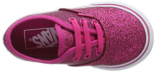 Vans Unisex Baby Authentic Krabbelschuhe Pink (Glitter)