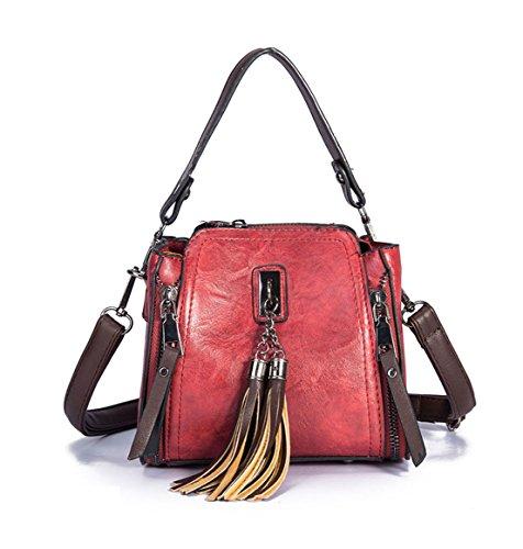 bandoulière Sacs Sacs DEERWORD épaule Vineux portés Sacs Femme Rouge Noirâtre menotte main portés cartables Vert Sacs Sacs F5FqE